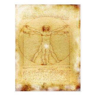 Vitruvianの人Da Vinci ポストカード