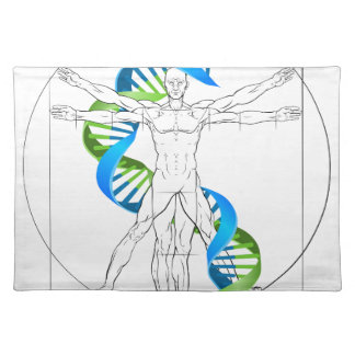 Vitruvianの人DNA ランチョンマット