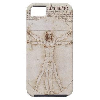 vitruvian人のレオナルドのiphone 5のvibeの場合カバー iPhone SE/5/5s ケース