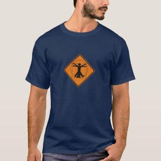 vitruvian人の交通標識 tシャツ