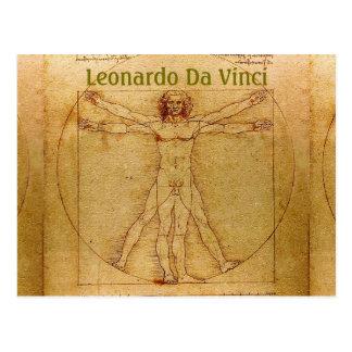 Vitruvian人レオナルドDa Vinci ポストカード