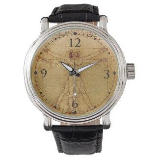Vitruvian人レオナルドDa Vinci 腕時計