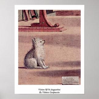 Vittore Carpaccio著セントオーガスティンの視野 ポスター