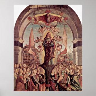 Vittore Carpaccio著聖ウルスラの神格化 ポスター