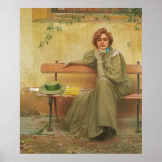 Vittorio Matteo Corcos 1896年著夢 ポスター