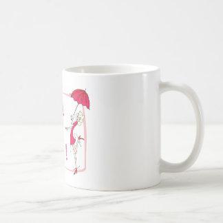 VivaのLaの花型女性歌手 コーヒーマグカップ