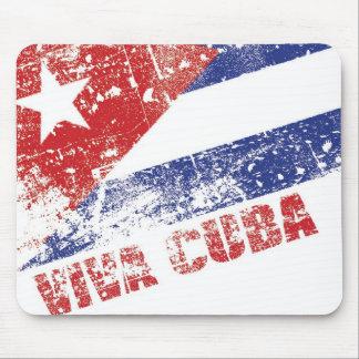 Vivaキューバの旗の動揺してなマウスパッド マウスパッド