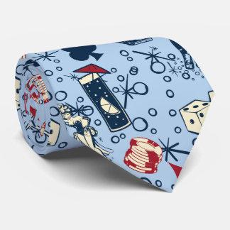 Vivaベガスのカジノのレトロの賭博の青 ネクタイ