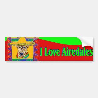 VivaメキシコのAiredale バンパーステッカー