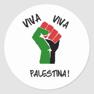 Viva Viva Palestinaのステッカー ラウンドシール