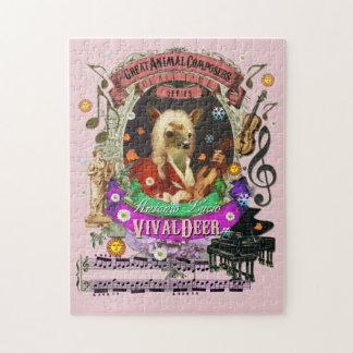 Vivaldeer素晴らしい動物作曲家のVivaldiのパロディ ジグソーパズル