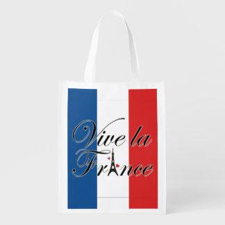 Viveのlaのフランスのタイポグラフィ エコバッグ