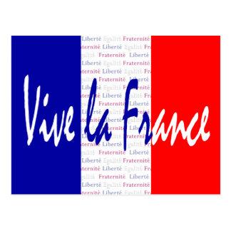 ViveのLaのフランスのフランスのな旗のFrancophileの郵便はがき ポストカード
