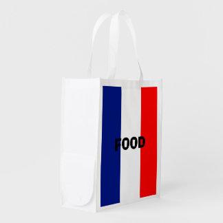 VIVEのLAフランス三色STRIPE20 エコバッグ