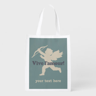 Vive L'amourのキューピッドのカスタムのエコバッグ エコバッグ