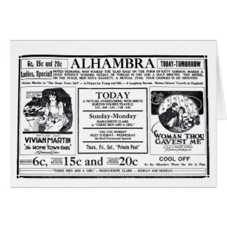 VivianマーティンジャックHoltの無声映画の広告1919年 カード