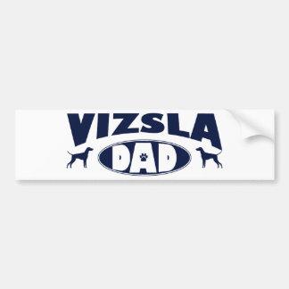 Vizslaのパパ バンパーステッカー