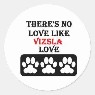 Vizsla愛のような愛がありません ラウンドシール