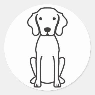 Vizsla犬の漫画 ラウンドシール