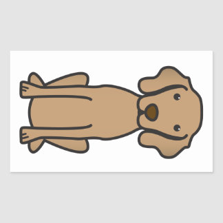 Vizsla犬の漫画 長方形シール