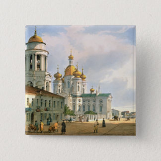 Vladimir教会のヴァージン 5.1cm 正方形バッジ