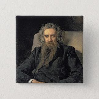 Vladimir Sergeyevich Solovyov 1895年のポートレート 5.1cm 正方形バッジ