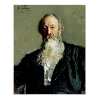 Vladimir Stasov 1883年のポートレート ポスター