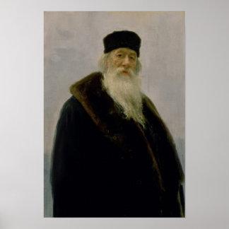 Vladimir Vasil'evich Stasov 1900年のポートレート ポスター