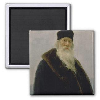 Vladimir Vasil'evich Stasov 1900年のポートレート マグネット