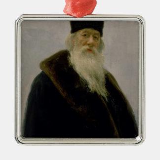 Vladimir Vasil'evich Stasov 1900年のポートレート メタルオーナメント