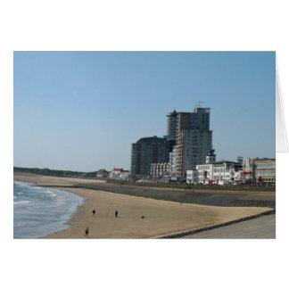 Vlissingenのビーチ、海及び通りの写真カード グリーティングカード