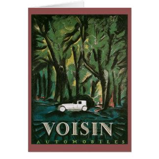 Voisinの自動車 カード