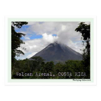 Volcan Arenalコスタリカ ポストカード