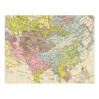 VolkerkarteフォンAsien -アジアの地図 ポストカード