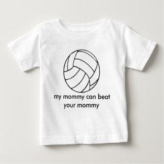 volleyball_clipart_ball [1]、私のお母さん… yを打つことができます ベビーTシャツ