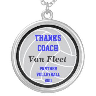 VolleyChickのカスタムなコーチのネックレス シルバープレートネックレス