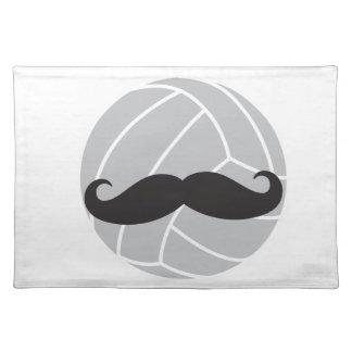 VolleyChickのバレーボールの髭 ランチョンマット