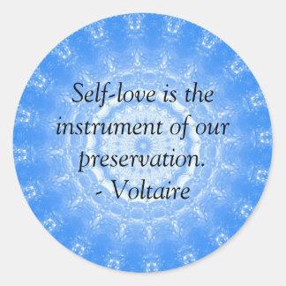 Voltairのやる気を起こさせるで感動的な引用文 ラウンドシール