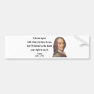 Voltaireの引用文1b バンパーステッカー