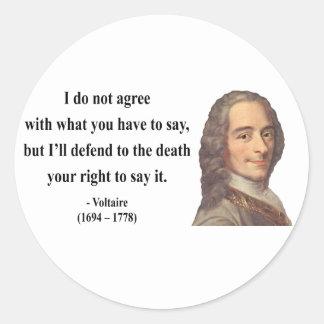 Voltaireの引用文1b ラウンドシール