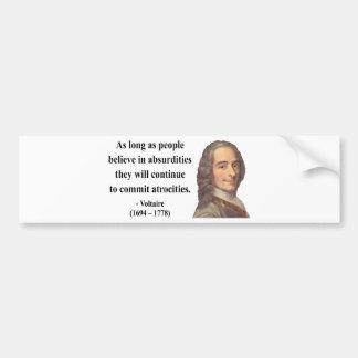 Voltaireの引用文2b バンパーステッカー