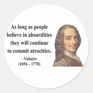 Voltaireの引用文2b ラウンドシール