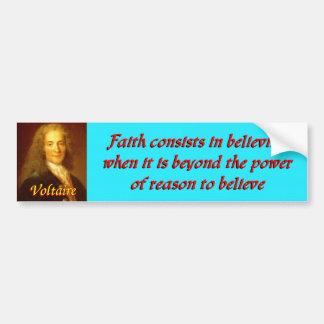 Voltaireの引用文5 バンパーステッカー