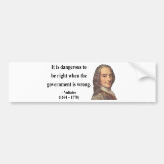 Voltaireの引用文7b バンパーステッカー