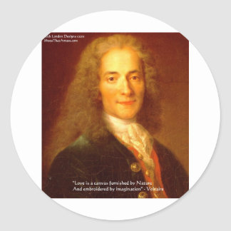 """Voltaireの""""愛またはキャンバス""""愛ティーカードギフトのマグ ラウンドシール"""