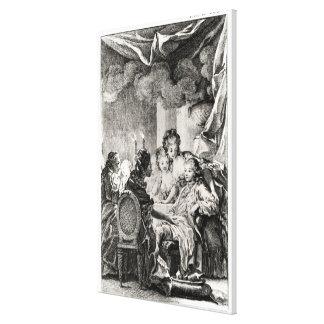 Voltaire著「L'Ingenu」からの場面 キャンバスプリント