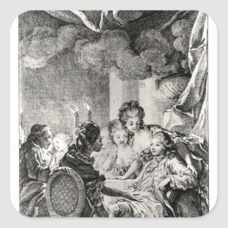 Voltaire著「L'Ingenu」からの場面 スクエアシール