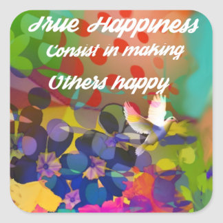 Voltaire.からの幸福メッセージ スクエアシール