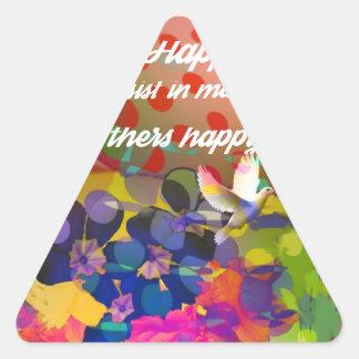 Voltaire.からの幸福メッセージ 三角形シール