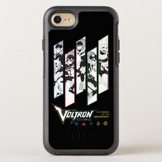 Voltron |のクラシックのパイロットの明暗中間部のパネル オッターボックスシンメトリーiPhone 8/7 ケース